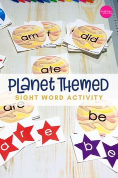 Planet Themed Sight Word Activity with star alphabet letters. So the possibilities of hands-on engagement are endless! #printableactivities #sightwordactivities #sightwordactivitieskindergarten #sightwordactivitiesprimary #sightwordspreschool #sightwordskindergarten #sightwordsprintables #kindergartenactivities #planetactivities #literacyactivities #printableactivitiesforkids #distancelearning #planetactivitiesforkids Planets Activities, Sight Word Activities, Printable Activities For Kids, Alphabet Activities, Kindergarten Activities, Educational Activities, Second Grade Sight Words, Sight Words List, Reading Task Cards