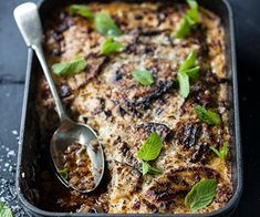 Beef Moussaka Topped with Creamy Parmesan