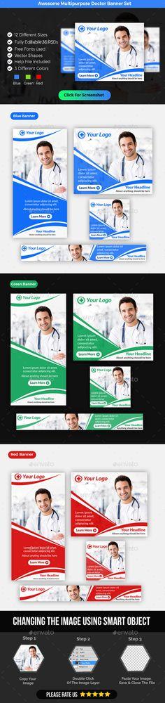 Multipurpose Doctor Banner Template PSD. Download here: https://graphicriver.net/item/multipurpose-doctor-banner-/17555867?ref=ksioks