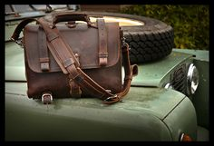 I really like this bag! Maybe someday I'll be able to get one. Saddleback Leather and Land Rover IIa No. 2 | Flickr - Photo Sharing!