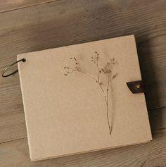 60 pages Square Ring Binder Album // Scrapbook Album // Wedding Album // Graduation Photo Album