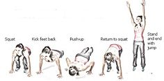 No time to workout? Do 1 min of #burpees, rest 1 min and repeat 5 times. Awesome workout! Or do as many as you can.