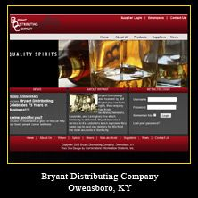 My Web Design Clients: Bryant Distributing Company. Owensboro, Kentucky.