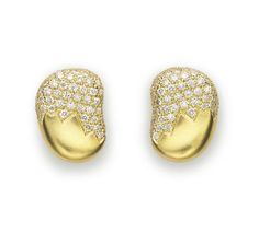 Paul Morelli: 18mm partial pave Pebble earrings