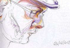 Chris: Urban Sketching by Beverley Gene Coraldean People Illustration, Urban Sketching, Drawings, Art, Sketch, Kunst, Portrait, Drawing, Resim