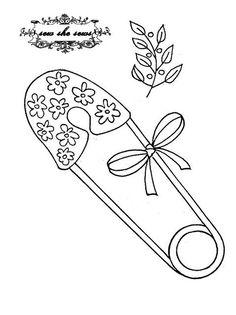 vintage safety pin embroidery pattern | Flickr – Compartilhamento de fotos!
