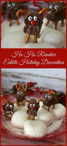 Ho Ho Reindeer Edible Holiday Decoration #HostessHoliday #HostessSweeps #ad #Christmas