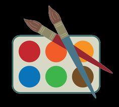 School Clip Art: Paint Set