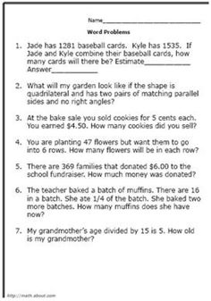 math worksheet : practice your math skills with these 7th grade word problems  : Grade 5 Math Word Problems Worksheets