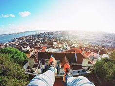 Lisbon citytrip view castle feet