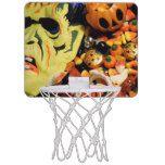 Frankenstein mask and candy mini basketball backboard #halloween #happyhalloween #halloweenparty #halloweenmakeup #halloweencostume