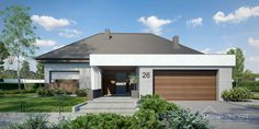 Projekt domu HomeKONCEPT-26 | HomeKONCEPT Modern House Plans, Modern House Design, Modern Bungalow Exterior, House Design Pictures, Facade House, Home Fashion, My House, Building A House, New Homes