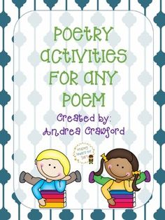 This freebie includes 3 activities that your students can use to think about different poems and the features they have.  There is a scavenger hunt, visualization page, and a page with questions about poems.