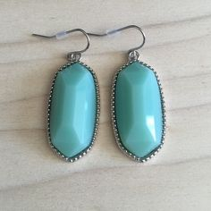 Mint and Silver Drop Earrings Brand new. 2 inch drop. Same day or next day shipping. No trades and no holds. 20% off or bundles. Jewelry Earrings