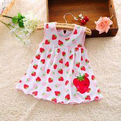 2016 new cute baby girl dress cotone dot strisce slip dress pera fiore dei capretti dei bambini abbigliamento 0-18 m dress