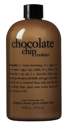 ...chocolate bubble bath.  I could never do this...I'd be drinking the bath water.