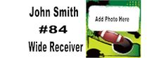Football Player Banner - Upload your Picture and Customize with your Information #football #banners