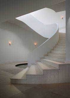 Luminous grand Stairs @ Private Residence in La Gorce, Miami Beach by Touzet Studio