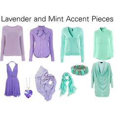 """""""Lilac and Mint Accent Pieces"""" by katestevens on Polyvore"""