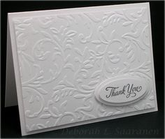simple & sophisticated thank you card... (I do not know who made this card)