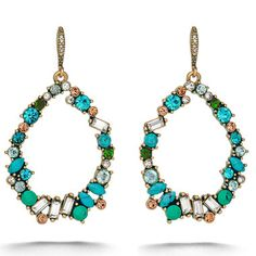 How FUN are these Aquamarina Open Teardrop #Earrings?!? These are the perfect accessory with beach hair and a tan! $42