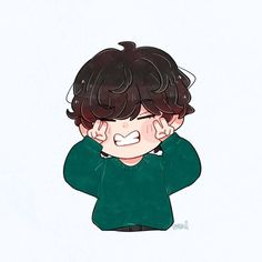 Bts Chibi, Anime Chibi, Kawaii Anime, Cartoon Wallpaper, Bts Wallpaper, Cartoon Art, Cute Cartoon, Bts Anime, Taehyung Fanart