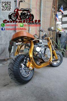 Mini bike ideas Tracker Motorcycle, Motorcycle Types, Custom Mini Bike, Bike Cargo Trailer, Go Kart Plans, Mini Chopper, Motorised Bike, Honda Ruckus, Wooden Truck