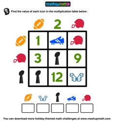 Check out these FREE Super Bowl math puzzles for kids!