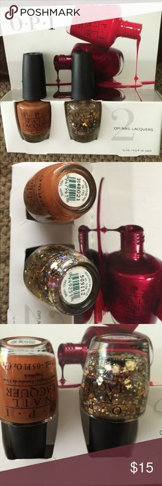 NIP OPI 2 Set Nail Lacquers tan and sparkles Never used. Awesome! OPI Other