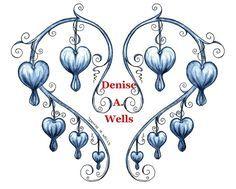 bleeding heart flower drawings | Bleeding Hearts tattoo design by Denise A. Wells | Flickr - Photo ...
