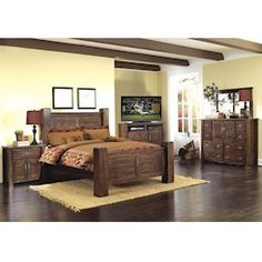 Lacks | Montarosa 4-Pc Queen Bedroom Set | Old World Furniture ...