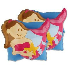 The bright colors make it easy to spot your kid, and also make them more fun to wear! They make ideal party favors for pool parties. Whether you call them water wings, swimmies, or floaties, we all know summer would be less fun without them! A Little Bit Of This Mermaid Water Wings. Click the image to get more information about the product at our online store!