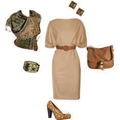 Olive and tan