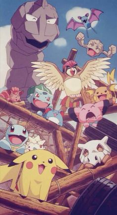 The Pokémon gang. God I love this picture. My childhood is awesome.