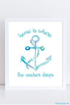 "DG ""Where the Anchor Drops"" Art Print | The Social Life"