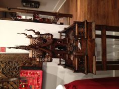 Thai spirit house that allows all of the ancestors and landlords a place to live in a new dwelling.