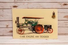 A personal favorite from my Etsy shop https://www.etsy.com/listing/273972688/vintage-case-engine-tender-tin-embossed
