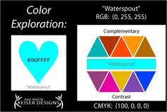 "Presented by Eva Maria Keiser Designs: Explore Color:  ""Waterspout"""