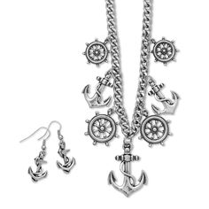 Merry Maritime Fashion Necklace and Earring Set