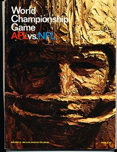 Superbowl 1 1967 world championship Football Program em