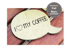 I love my coffee. Set of 4 quirky, yellow coasters by CutOutsProductDesign on Etsy Coffee Set, Coasters, Yellow, My Love, Etsy, Drink Coasters, Coaster Set, Coaster