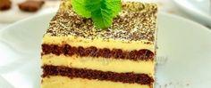 Vanilková nádivka v kombinaci s čokoládovým krémem = lahůdka. Black & white řezy jsou nenáročné a chutné. Mňamka! Czech Recipes, Ethnic Recipes, Something Sweet, Confectionery, No Bake Cake, Tiramisu, Sweet Tooth, Cheesecake, Deserts