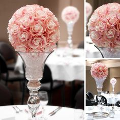 you will be the belle of the ball with these beautiful rose centrepieces created with koch wedding decorations wholesaleglass
