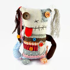 Ooak Art Doll Monster Doll Halloween Decor by MiaPuPe on Etsy