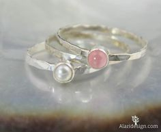 Pure love. Pure romance. Wedding Bells. This sweet and delicate set of rings sums up those feelings and offers an exceptional way to express them to a loved one. Rose Quartz is known as the stone of l