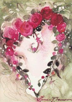 Рисунки Minna Immonen. Акварель (167 работ)