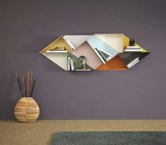 Lago, Cool Geometric wall shelving unit