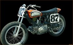 H-D Sprint 250 flat tracker with Mark Brelsford's  #87 plates.  Early 1970's vintage.