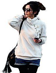 Women's Plus Size White/Black Causal Hoodies,Long... – USD $ 14.99