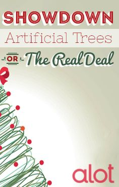 Artificial vs. real #Christmas trees: the struggle is real.